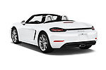 Car pictures of rear three quarter view of 2019 Porsche 718-Boxster - 2 Door Convertible Angular Rear