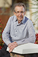 Former snooker player Terry Griffiths at his home in Five Roads, near Llanelli, Wales, UK. Thursday 28 March 2019