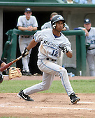 August 31, 2003:  Shortstop Juan Francia of the West Michigan White Caps, Class-A affiliate of the Detroit Tigers, during a Midwest League game at Oldsmobile Park in Lansing, MI.  Photo by:  Mike Janes/Four Seam Images