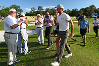 May 2nd 2021; The Woodlands, Texas, USA;  Mike Weir departs the green on 18 after winning the 2021 Insperity Invitational at The Woodlands Country Club on May 2, 2021 in The Woodlands, Texas.