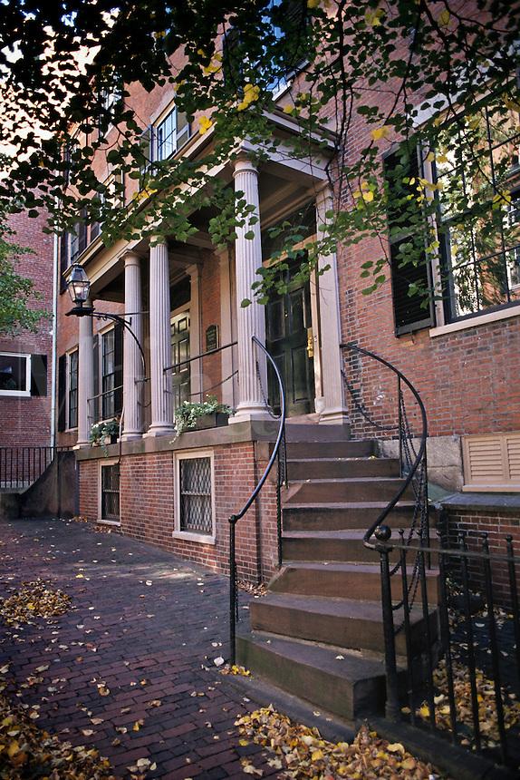 Massachusetts, Boston; Friends (Quakers) Meeting House; Beacon Hil
