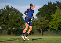 KASHIMA, JAPAN - AUGUST 1: Alyssa Naeher #1 of the USWNT makes a save during a training session at the practice field on August 1, 2021 in Kashima, Japan.