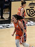 Copa de la Reina de Baloncesto 2021.<br /> Valencia Basket - IDK Euskotren.<br /> 5 de marzo de 2021.<br /> Valencia - España.