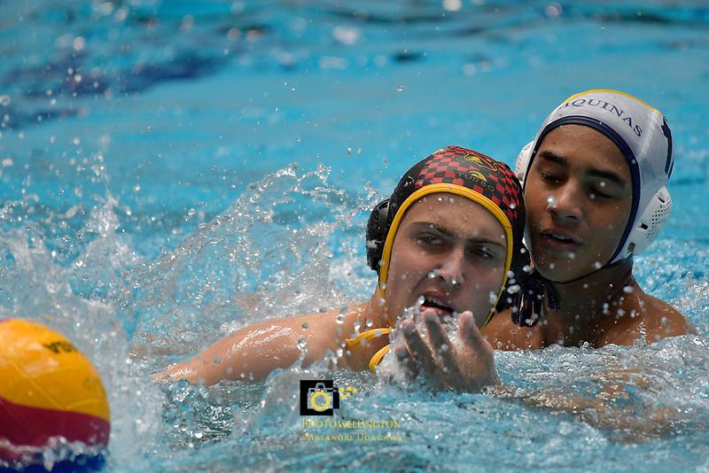 NZ Water Polo - Secondary Schools National Championships at WRAC, Wellington, New Zealand on Tuesday 18 April 2017.<br /> Photo by Masanori Udagawa<br /> www.photowellington.photoshelter.com.