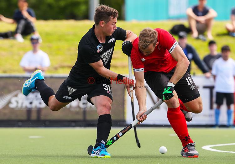 Mackenzie Wilcox. International Hockey, Blacksticks men v Canada. Lloyd Elsmore Park, Auckland, New Zealand. Sunday 21 October 2018. Photo: Simon Watts/Hockey NZ