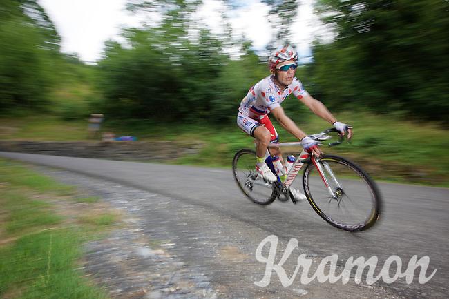 Joaquim Rodriguez (ESP/Katusha) descending the Col de Chaussy (C1/1533m/14.4km@6.3%)<br /> <br /> stage 19: St-Jean-de-Maurienne - La Toussuire / Les Sybelles   (138km)<br /> Tour de France 2015