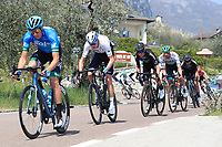 23rd April 2021; Cycling Tour des Alpes Stage 5, Valle del Chiese to Riva del Garda, Italy;  Second right, Christopher Froome Israel Start-Up Nation on the uphill climb
