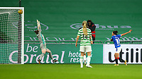 21st April 2021; Celtic Park, Glasgow, Scotland; Scottish Womens Premier League, Celtic versus Rangers; Ngangom Bala Devi of Rangers Women sees her shot hit the bar late in the game