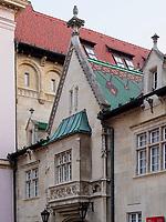 Nord-Ost-Fassade altes Rathaus, Bratislava, Bratislavsky kraj, Slowakei, Europa<br /> North-East wing of old townhall, Bratislava, Bratislavsky kraj, Slovakia, Europe