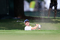 4th September 2020, Atlanta GA, USA;  Brendon Todd of Athens, GA hits out of the sand on the 9th green during the first round of the TOUR Championship  at the East Lake Golf Club in Atlanta, GA.