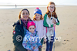 Fiona, Ella, Isabelle and Anna Spring with Fred the dog enjoying a stroll in Banna on Sunday morning.