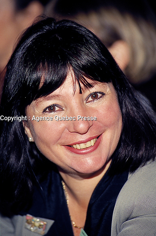Monique Simard , President SODEC , seen here in a November 1994  file photo is now in an open war with World Film Vice-President Danielle Cauchard about the 2014 festival financing.<br /> <br /> File Photo : Agence Quebec Presse - Pierre Roussel