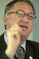 May 2003 File Photo - Claude Dauphin , head of Montreal Transit Comission (STM), Photo : Roussel
