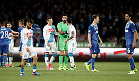 Calcio, Serie A: Napoli, stadio San Paolo, 2 aprile, 2017.<br /> Napoli players greet Juventus players at the end of the Italian Serie A football match between Napoli and Juventus at San Paolo stadium, April 2, 2017<br /> UPDATE IMAGES PRESS/Isabella Bonotto