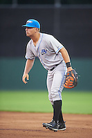 Hudson Valley Renegades first baseman Nathaniel Lowe (36) during a game against the Batavia Muckdogs on August 1, 2016 at Dwyer Stadium in Batavia, New York.  Hudson Valley defeated Batavia 5-1.  (Mike Janes/Four Seam Images)
