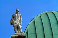 Basilica von Andrea Palladio, Dachfigur,  Piazza dei Signorie, Vicenza, Venetien-Friaul, Italien, Unesco-Weltkulturerbe
