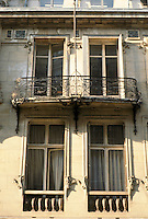 Jules Lavirotte: Rue Sedillot, Paris. Detail of windows.