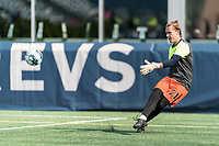 FOXBOROUGH, MA - JULY 25: USL League One (United Soccer League) match. Sam Howard #21 of Union Omaha during a game between Union Omaha and New England Revolution II at Gillette Stadium on July 25, 2020 in Foxborough, Massachusetts.
