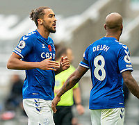 1st November 2020; St James Park, Newcastle, Tyne and Wear, England; English Premier League Football, Newcastle United versus Everton; Dominic Calvert-Lewin of Everton chats with Fabian Delph of Everton