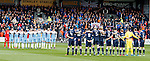 Rangers and Ross County players and fans pay their respects to the fallen