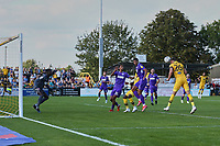 Richie Bennett of Sutton United scores the first goal for his team and celebrates during Sutton United vs Stevenage, Sky Bet EFL League 2 Football at the VBS Community Stadium on 11th September 2021