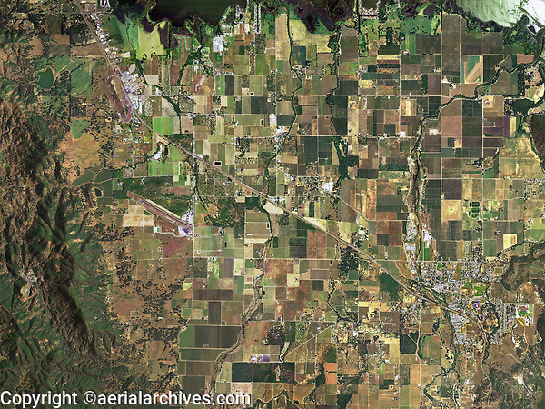 aerial photo map of Kelseyville, Finley, Big Valley and a portion of Lakeport, Lake County, California, 2005.  For a more recent aerial photo map, please contact Aerial Archives.