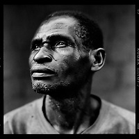 """Raphael Tuite, farmer: 'I am not working today. It is my 'rest day'. Normally I go off into the forest for five kilometres with my machete but today I stay sitting in the shade of my tree. Resting and enjoying. The manioc will undoubtedly grow today just as well without me.""""."""