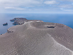 San Benedicto Island, Revillagigedos Islands, Mexico; an aerial view of the cinder cone from the 1952 volcanic eruption on San Benedicto Island