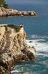 Frankreich, Provence-Alpes-Côte d'Azur, Nizza: Aussichtspunkt im Jardin Félix Rainaux | France, Provence-Alpes-Côte d'Azur, Nice: view pont at Jardin Félix Rainaux