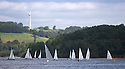 29/08/16<br /> <br /> Sailing boats enjoy a gentle Bank Holiday Monday breeze as they race on Carsington Water, near Ashbourne in Derbyshire.<br /> <br /> All Rights Reserved, F Stop Press Ltd. +44 (0)1773 550665
