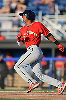 State College Spikes shortstop Cesar Valera #26 during the second game of a doubleheader against the Batavia Muckdogs on June 29, 2013 at Dwyer Stadium in Batavia, New York.  Batavia defeated State College 5-4.  (Mike Janes/Four Seam Images)