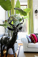 modern sculpture in the living room