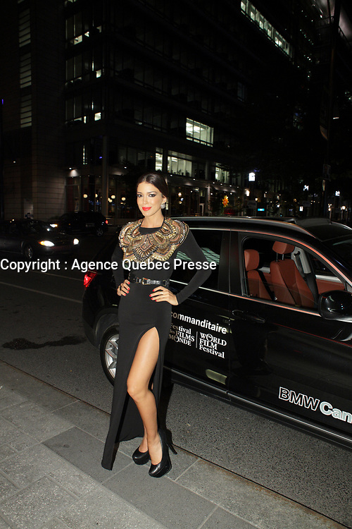 August 23 2012 - Montreal (Qc) CANADA - Montreal World Film Festival 2012 - Opening reception at Intercontinental hotel - Miss Universe Canada 2012 Sahar Biniaz