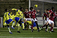 Jorge Djassi-Sambu of Haringey Borough goes close to a goal during Haringey Borough vs Potters Bar Town, Pitching In Isthmian League Premier Division Football at Coles Park Stadium on 28th September 2021