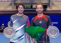 Rotterdam, Netherlands, December 15, 2017, Topsportcentrum, Ned. Loterij NK Tennis, Prizegiving Doubles:   winners Robin Haase (NED) and Matwé Middelkoop (NED) (R)<br /> Photo: Tennisimages/Henk Koster