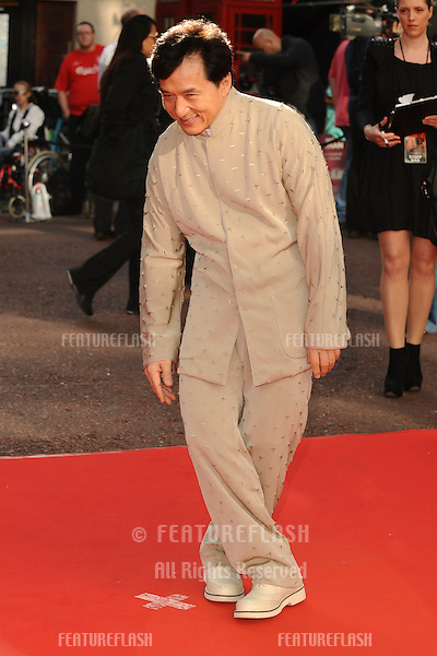 """Jackie Chan arriving for the """"Karate Kid"""" premiere at the Odeon Leicester Square, London.  15/07/2010  Picture by: Steve Vas / Featureflash"""