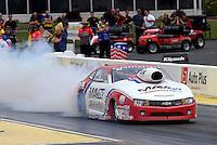 May 10, 2013; Commerce, GA, USA: NHRA pro stock driver Greg Stanfield during qualifying for the Southern Nationals at Atlanta Dragway. Mandatory Credit: Mark J. Rebilas-