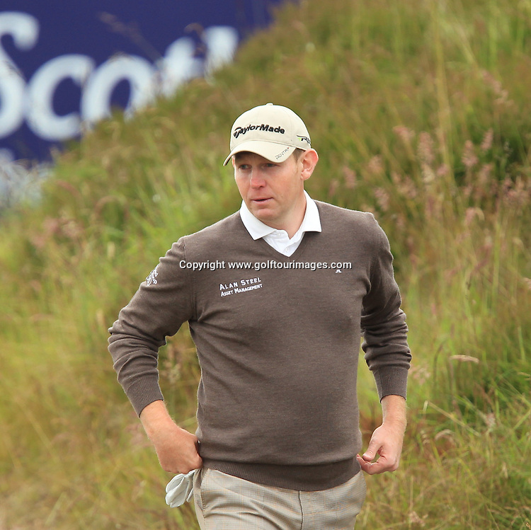 Stephen Gallacher during the second round of the 2012 Aberdeen Asset Management Scottish Open being played over the links at Castle Stuart, Inverness, Scotland from 12th to 14th July 2012:  Stuart Adams www.golftourimages.com:13th July 2012