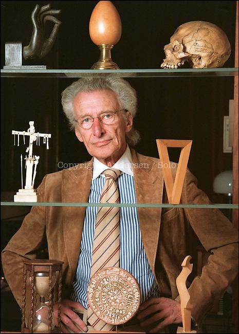 Harry Mulisch dutch author at home in Amsterdam.