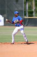 Esmerlin Gonzalez participates in the International Prospect League Showcase at the New York Yankees academy in Boca Chica, Dominican Republic on January 24, 2014 (Bill Mitchell)