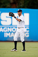 Tampa Yankees Mason Williams #2 during a Florida State League game against the Jupiter Hammerheads at Legends Field on July 17, 2012 in Tampa, Florida.  Tampa defeated Jupiter 12-0.  (Mike Janes/Four Seam Images)