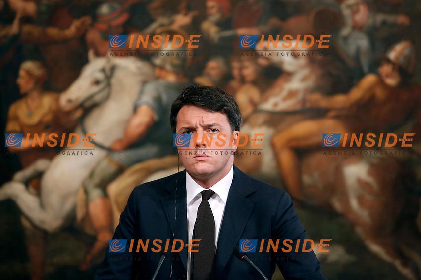 Matteo Renzi<br /> Roma 10-02-2016 Palazzo Chigi. Incontro Italia Iraq. Rome 10th February 2016. Italian premier meets the Prime Minister of Iraq.<br /> Photo Samantha Zucchi Insidefoto