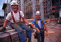 Workers at construction site.