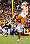 Clemson wide receiver Mike Williams catches a pass over the top of Alabama defensive back Anthony Averett in the second half of the 2017 College Football Playoff National Championship in Tampa, Florida on January 9, 2017.  Clemson defeated Alabama 35-31. Photo by Mark Wallheiser/UPI