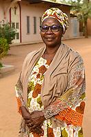 NIGER, Niamey, katholische Kirche, Fatouma Marie-Therése Djibo, ist vom Islam zum Christentum konvertiert