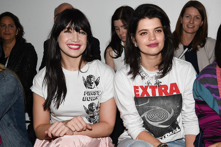 Daisy Lowe and Pixie Geldof<br /> at the Ashley Williams AW17 show as part of London Fashion Week AW17 at 180 Strand, London.<br /> <br /> <br /> ©Ash Knotek  D3230  17/02/2017