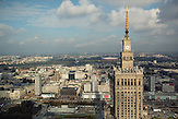 Kulturpalast in Warschau. / Palace of Culture and Science.