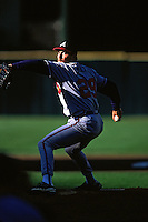 SAN FRANCISCO, CA - John Smoltz of the Atlanta Braves pitches against the San Francisco Giants during a game in 1998 at Candlestick Park in San Francisco, California. (Photo by Brad Mangin)