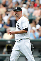 Chicago White Sox John Danks #50 during a game against the Kansas City Royals at U.S. Cellular Field on August 14, 2011 in Chicago, Illinois.  Chicago defeated Kansas City 6-2.  (Mike Janes/Four Seam Images)
