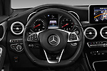 Car pictures of steering wheel view of a 2017 Mercedes Benz GLC-Coupe 220-D 5 Door SUV Steering Wheel
